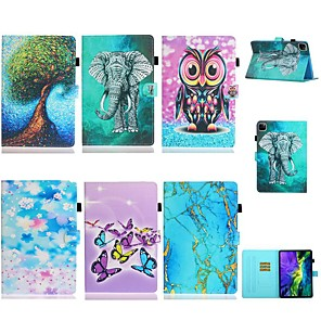 cheap iPad case-Case For Apple iPad Mini 3/2/1/Mini 4/5 Card Holder/Flip/Pattern Full Body Cases Butterfly/Animal /Marble PU Leather For iPad Pro 11'' 2020/New Air 10.5 2019/Pro 10.5/iPad 10.2 2019/iPad Air 2/pro 9.7