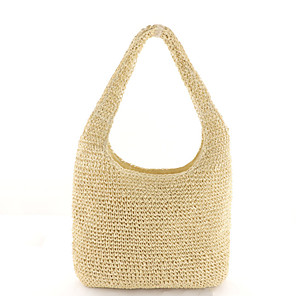 cheap Handbag & Totes-Women's Polyester / Straw Top Handle Bag Solid Color Brown / Beige