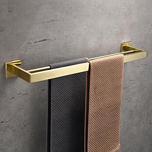 cheap Bathroom Accessory Set-Towel Bar / Bathroom Shelf New Design / Creative Contemporary / Modern Stainless Steel / Low-carbon Steel / Metal 1pc - Bathroom 2-tower bar Wall Mounted