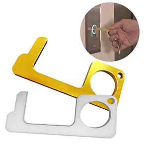 cheap Tool Sets-Hands free door opener multi-function anti-epidemic metal key chain press elevator door opener multi-function key chain anti-epidemic press elevator door opener /contactless door opener