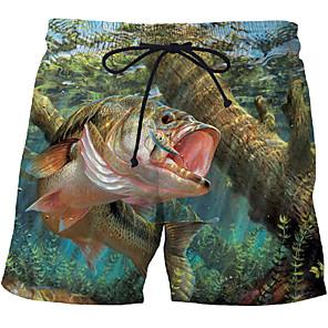 cheap Anime Costumes-Men's Sporty Exaggerated Plus Size Skinny Sweatpants Shorts Pants - 3D 3D Print Animal Fantastic Beasts, Print Rainbow US32 / UK32 / EU40 / US34 / UK34 / EU42 / US36 / UK36 / EU44