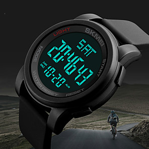 cheap Sport Watches-Men's Sport Watch Military Watch Smartwatch Quartz Digital Silicone Multi-Colored 50 m Calendar / date / day Creative Cool Digital Charm Classic Casual Fashion Dress Watch - Black Green Blue Two
