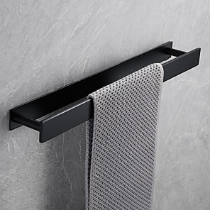 cheap Hand Shower-16-Inch Stainless Steel Bathroom Towel Holder, Self Adhesive Bath Towel Rack,  Wall Mounted, Contemporary Style Bathroom Hardware Accessories Towel Bar, Vertical and Horizontal, Rustproof, 3 Colors, M
