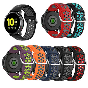 cheap Smartwatch Bands-Silicone Watchband for Samsung Galaxy Watch 42mm / active / active2 / Gear Sport /S2 classic Strap Band Bracelet