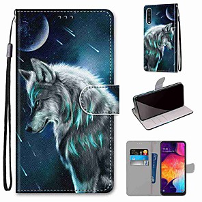 cheap Samsung Case-Case For Samsung Galaxy S20 / S20 Plus / S20 Ultra Wallet / Card Holder / with Stand Full Body Cases Wolf PU Leather / TPU for A51 / A71 / A81 / A91 / A01 / A21 / A50(2019) / A30s(2019) / A30(2019)