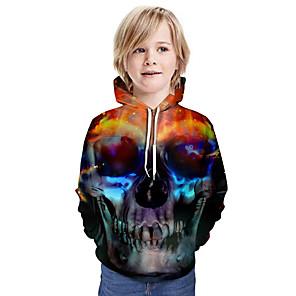 cheap Women's Boots-Kids Boys' Active Basic Color Block 3D Long Sleeve Hoodie & Sweatshirt Black