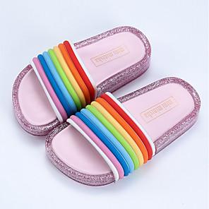 cheap Kids' Sandals-Girls' LED / Comfort / LED Shoes PVC Sandals Toddler(9m-4ys) / Little Kids(4-7ys) Black / Fuchsia / Pink Summer