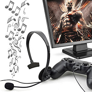 cheap Gaming Headsets-Professional 1 Ear Mini Wired Headset Stereo With VOL Microphone For Playstation video game PS4
