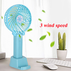 cheap Fans-Mini Handheld Fan Cooler Handheld USB Charging Mini Desk Fan Rechargeable ABS Portable For Office Outdoor Household Travel