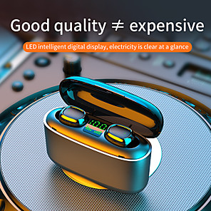 cheap TWS True Wireless Headphones-Imosi G5S TWS Wireless Earbuds Touch Control Sport Headset 3500mah LED Bluetooth5.0l Waterproof Headphone