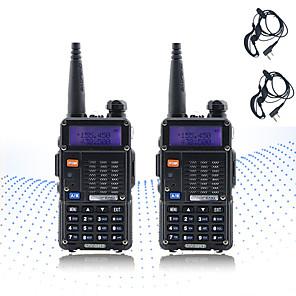 cheap Indoor IP Network Cameras-2PCS BAOFENG 5RT 8W 2800mAh Handheld Dual Band 5KM-10KM Walkie Talkie Two Way Radio / 136-174MHz / 400-520MHz Intercom Small Radio Preofessional FM Transceiver