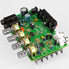 cheap Amplifiers & Effects-Amplifier Board Digital Audio Stereo 12 V 30+30 2.0 Connect to Microphone Adapters for Car Home Theater Speakers DIY