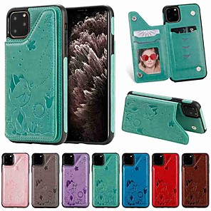 cheap iPhone Cases-Case For Apple iPhone 11 / iPhone 11 Pro / iPhone 11 Pro Max Wallet / Card Holder / with Stand Back Cover PU Leather / TPU
