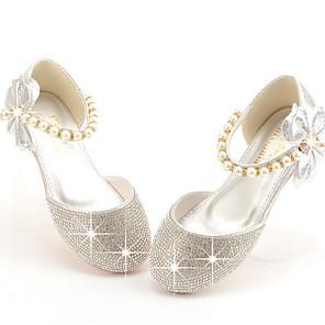 cheap Kids' Tiny Heels-Girls' Comfort PU Flats Little Kids(4-7ys) Pink / Champagne / Silver Summer