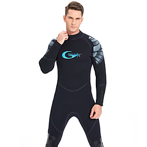 cheap Wetsuits, Diving Suits & Rash Guard Shirts-YON SUB Men's Full Wetsuit 5mm SCR Neoprene Diving Suit Thermal / Warm Waterproof Zipper Long Sleeve Back Zip - Diving Water Sports Solid Colored Autumn / Fall Spring Winter / Micro-elastic