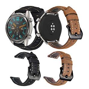 Недорогие Smartwatch Bands-ремешок для часов huawei часы gt / huawei часы gt 2 / часы huawei gt2 46-миллиметровая кожаная петля huawei / современная пряжка / бизнес-группа стеганый ремешок из искусственной кожи