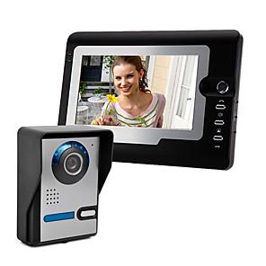 cheap Video Door Phone Systems-7 Inch Wire Vidoe Door phone Home Security Intercom System Unlock 1 Camera 1 Monitor P810FA11