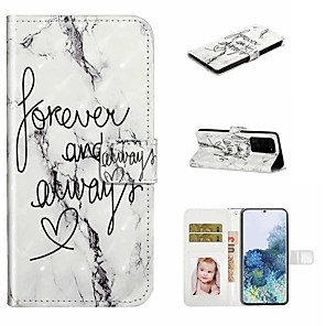 cheap Samsung Case-Case For Samsung Galaxy S20 / Galaxy S20 Plus / Galaxy S20 Ultra Wallet / Card Holder / with Stand Full Body Cases Marble PU Leather / TPU for Galaxy A51 / A71 / A80 / A70 / A50 / A30S / A20