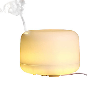 cheap Phone Mounts & Holders-1pcs 500ml Ultrasonic Air Humidifier Aroma Essential Oil Diffuser Aromatherapy Hmidificador 7 Color Change LED Night Light For Home