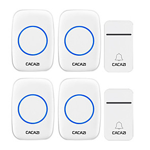 cheap Doorbell Systems-CACAZI FA12 Self-Powered Wireless Doorbell Waterproof Smart No Battery Home Cordless Bell 200M Remote 38 Chimes