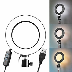 cheap Ring light-LED Selfie Stick Ring Fill Light USB Dimmable Phone Ring Light Plug-in Use 8 inch