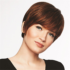 cheap Synthetic Trendy Wigs-Synthetic Wig kinky Straight With Bangs Wig Short Black / Gold Synthetic Hair 18 inch Women's Fashionable Design Life Classic Black / Blonde