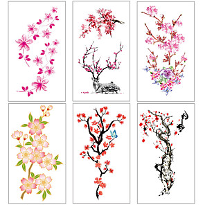 cheap Tattoo Stickers-6 pcs Temporary Tattoos Water Resistant / Waterproof / Mini Style / Safety Face / Body / Hand Water-Transfer Sticker Body Painting Colors