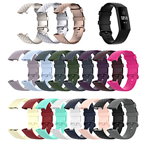 cheap Smartwatch Bands-Watch Band for Fitbit Charge 3 / Fitbit charge3 / Fitbit Charge 4 Fitbit Sport Band Silicone Wrist Strap