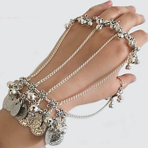cheap Earrings-Dance Accessories Accessories Women's Training / Performance Silver Silver Coin / Chain Bracelets