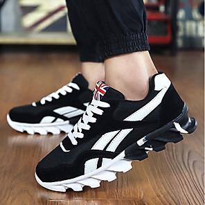 cheap Men's Sneakers-Men's Fall / Winter Casual Daily Trainers / Athletic Shoes PU Black / Red / Blue