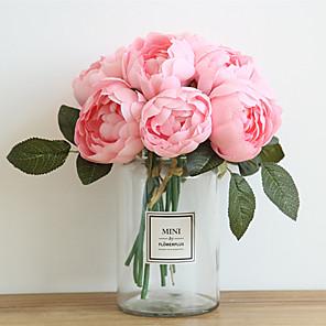 cheap Artificial Plants-27cm Peony Simulation Flower Wedding Holding Flowers Home Decoration 6 stick