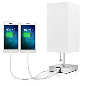 cheap Table Lamps-Table Lamp with USB Port Bedside Lamp Night Light Modern Design USB Powered Home Decoration For Bedroom Study Room Office 220V