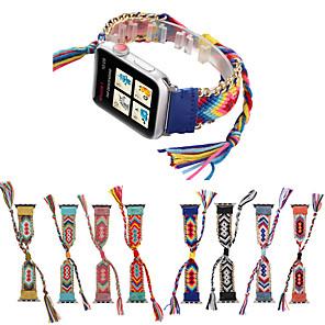 cheap Smartwatch Bands-Woven Rope strap for apple watch band iwatch band 42/44mm/38/40mm bracelet watch strap belt Handmade clock watchband series 5 4 3 21