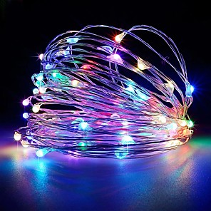 cheap LED String Lights-5M 50LED USB Powered Fairy String Lights New Year Holiday Family Christmas Wedding Party Flowers Cake Valentine's Day Decoration