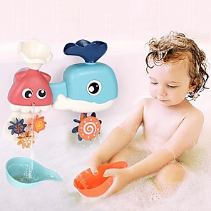 cheap Bathroom Gadgets-Baby Play Water Toys Ocean Turn Children's Bathroom Whale Shower Toy Baby Play Water Spray Play Parent-child Interaction Toys