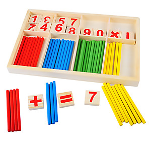 cheap Building Blocks-Montessori Teaching Tool Math Toy Educational Toy Eco-friendly Education Wooden Classic Kid's Boys' Girls' Toy Gift