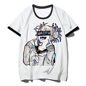 cheap Everyday Cosplay Anime Hoodies & T-Shirts-Inspired by My Hero Academia Boko No Hero Toga Himiko Cosplay Costume T-shirt Polyster Print Printing T-shirt For Men's / Women's