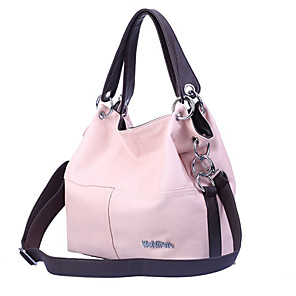 cheap Handbag & Totes-Women's Bags PU Leather Tote / Hobo Bag Zipper for Daily Black / Blushing Pink / Khaki / Green