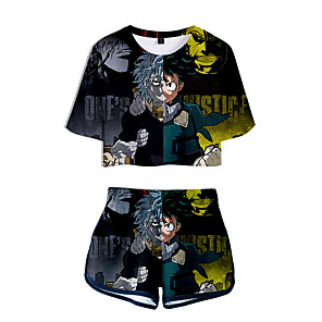 cheap Everyday Cosplay Anime Hoodies & T-Shirts-Inspired by My Hero Academia Boko No Hero Bakugou Katsuki Cosplay Costume Outfits Polyster Print Printing Shorts For Men's / Women's / T-shirt