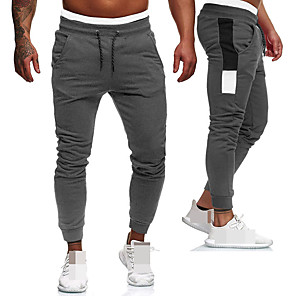 cheap Running & Jogging Clothing-Men's Sweatpants Joggers Jogger Pants Track Pants Sports & Outdoor Athleisure Wear Bottoms Drawstring Running Walking Jogging Training Breathable Moisture Wicking Soft Sport Black Red Gray Color