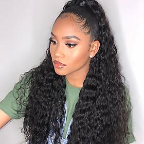 cheap Human Hair Wigs-Remy Human Hair 4x4 Closure Wig style Brazilian Hair Deep Wave Natural Wig 150% Density New Arrival Women's Long Medium Length Very Long Human Hair Lace Wig