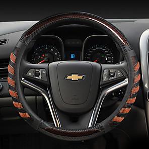 ieftine Husă Volan-volanul de modă auto acoperă piele 38cm respirabil antiderapant pentru accesorii auto universale de patru sezoane