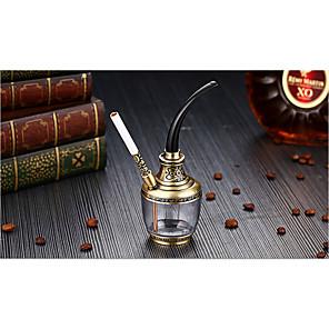 voordelige Asbakken-waterpijp metaal traditionele ontwerpen tabak en olie 2 kleuren d6.2 h15.5cm