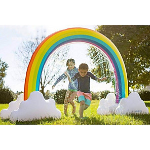 cheap Inflatable Ride-ons & Pool Floats-Rainbow Sprinkler Toys, Outdoor Inflatable pool Summer Fun Spray Water Toy, Rainbow Arch Lawn Beach Outdoor Toy, Outside Backyard Family Water/Birthday Party Toy for Children,adults