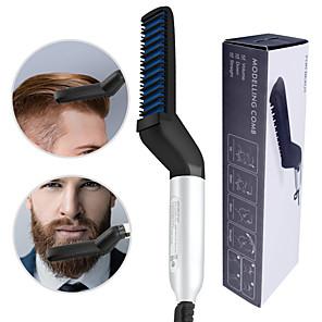 cheap Bathroom Gadgets-Multifunctional Hair Comb Brush Beard Straightener Hair Straighten Electric Beard Straightening Comb Quick Hair Styler For Men