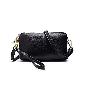 cheap Women's Sandals-Women's Bags PU Leather / Cowhide Clutch / Coin Purse / Crossbody Bag Tassel / Zipper for Daily Wine / Black / Red / Fall & Winter