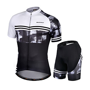 cheap Cycling Jersey & Shorts / Pants Sets-Nuckily Men's Short Sleeve Cycling Jersey with Shorts Black / White Novelty Bike Quick Dry Sports Novelty Road Bike Cycling Clothing Apparel