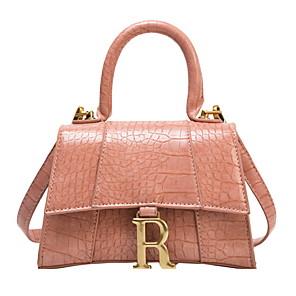 cheap Women's Sandals-Women's Bags PU Leather Crossbody Bag Buttons / Zipper for Daily White / Black / Purple