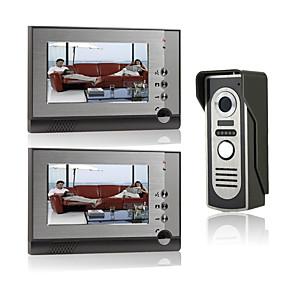 cheap Video Door Phone Systems-7 Inch Wire Vidoe Door phone Home Security Intercom System Unlock P805M12
