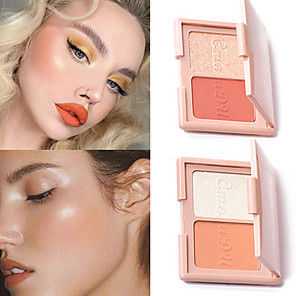 cheap Blush-# / 3 Colors 1 pcs Matte / Shimmer Waterproof / Coloured gloss / Long Lasting Daily China Traditional / Sweet Fashionable Design / Easy Carrying / Durable Party Evening / Going out / Casual / Daily
